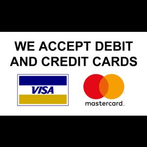We accept debit cards